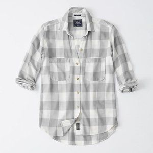 Abercrombie Drapey button-up shirt - Grey